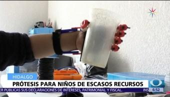 noticia,s televisa, Estudiantes, crean prótesis, impresoras 3D, niños de escasos recursos
