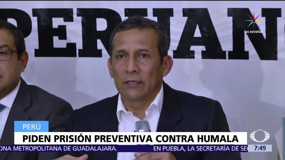 noticias, televisa, Fiscalía de Perú, prisión preventiva, Ollanta Humala, esposa