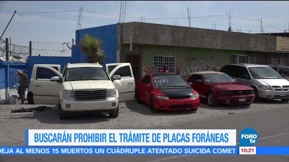 Autoridades capitalinas, Buscarán prohibir, trámite, placas foráneas