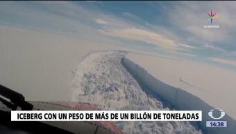 noticias, televisa, Iceberg gigante, separa de bloque, Antártida, bloque de hielo