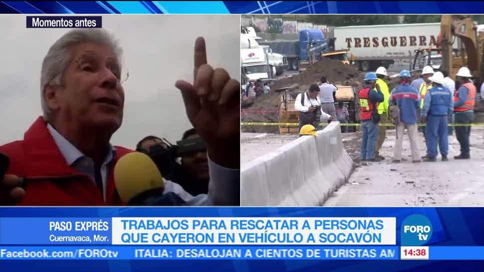 noticias, televisa, Basura, responsable de socavón, Paso Express, Ruiz Esparza