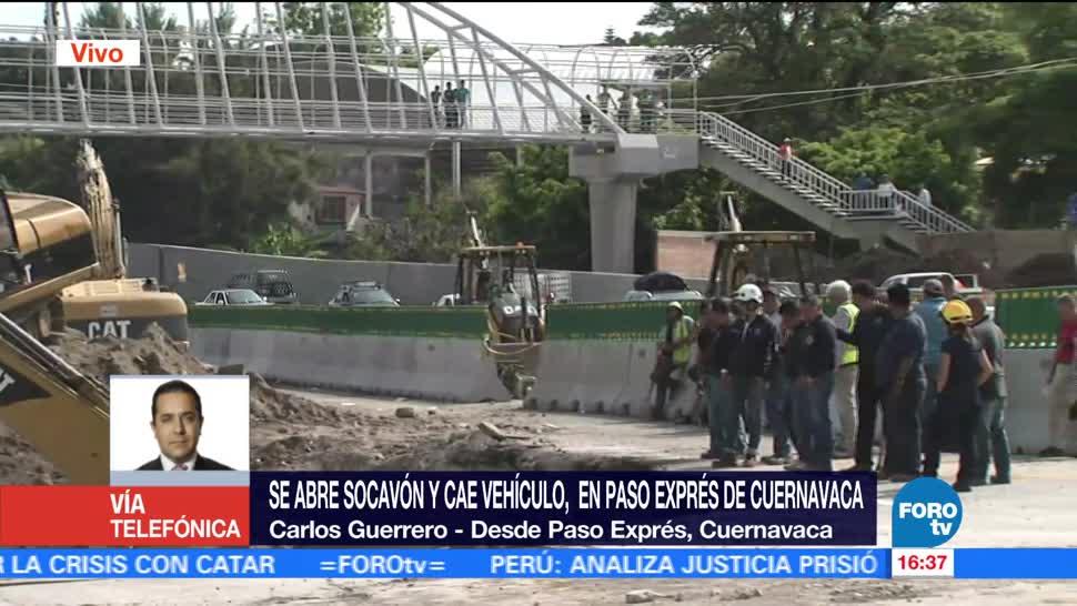 noticias, forotv, Rutas alternas, por cierre, Paso Express, Cuernavaca