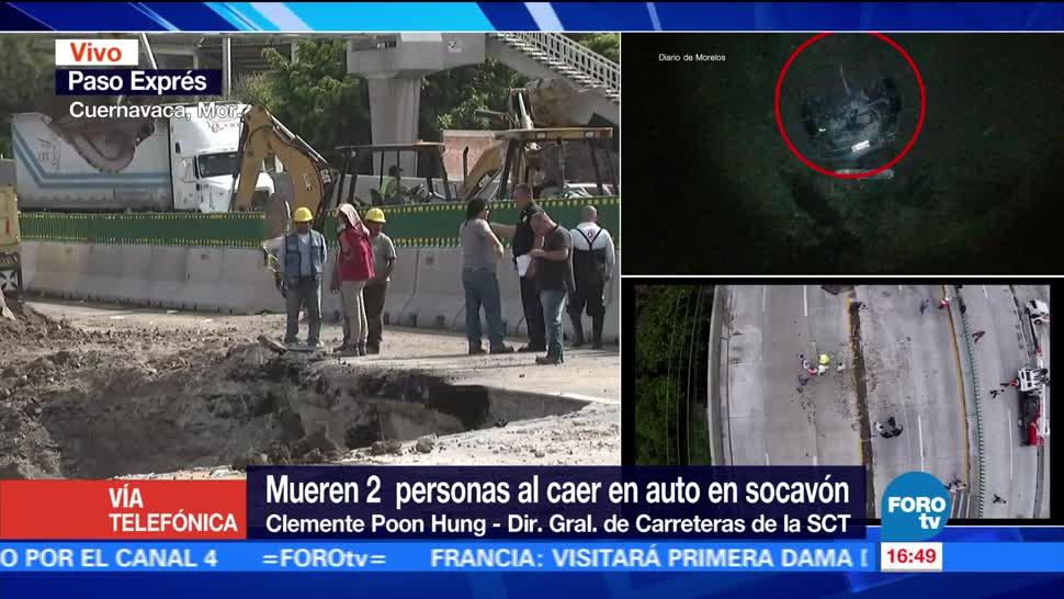 notiias, forotv, La obra, provocó socavón, Cuernavaca, SCT