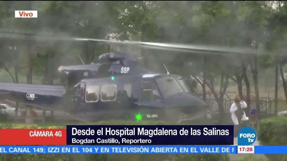 noticias, forotv, Aterriza helicóptero, corazón, Hospital Magdalena de las Salinas, donado