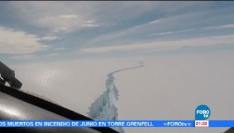 Se, desprende, iceberg, Antártida, consecuencias, cambio climático