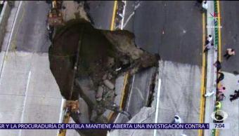 noticias, televisa, abre, socavón, Paso Express de Cuernavaca, mueren dos personas