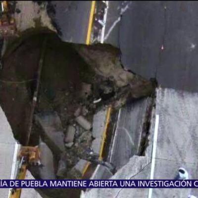 Se abre socavón en Paso Express de Cuernavaca; mueren dos personas
