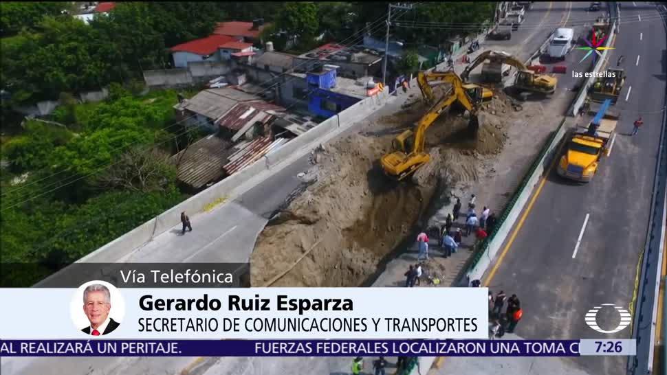 noticias, televisa, Ruiz Esparza, Despierta, socavón, Paso Express