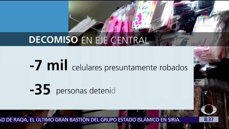 noticias, televisa, Decomisan, 7 mil celulares, presuntamente robados, CDMX