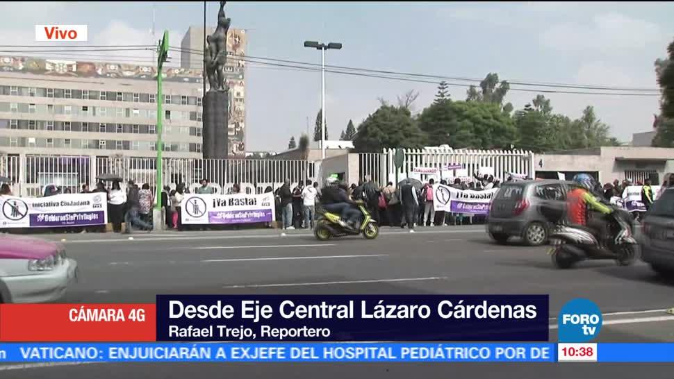 noticias, forotv, Protestan, frente a edificio, SCT, socavón del Paso Express