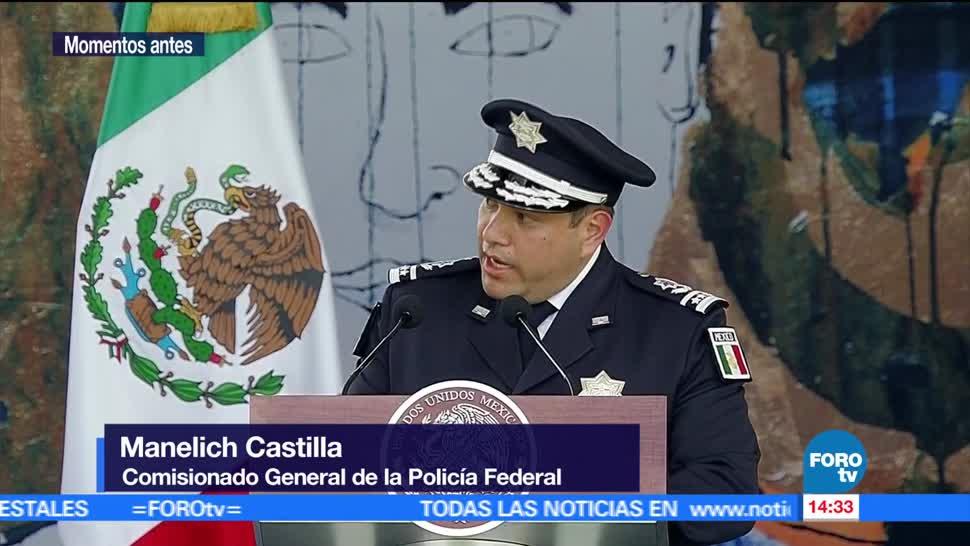Manelich Castilla, reconoce, trabajo, director, Policía, Federal