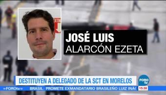 Destituyen, delegado, SCT, Morelos, Gerado Ruiz Esparza, José Luis Alarcon