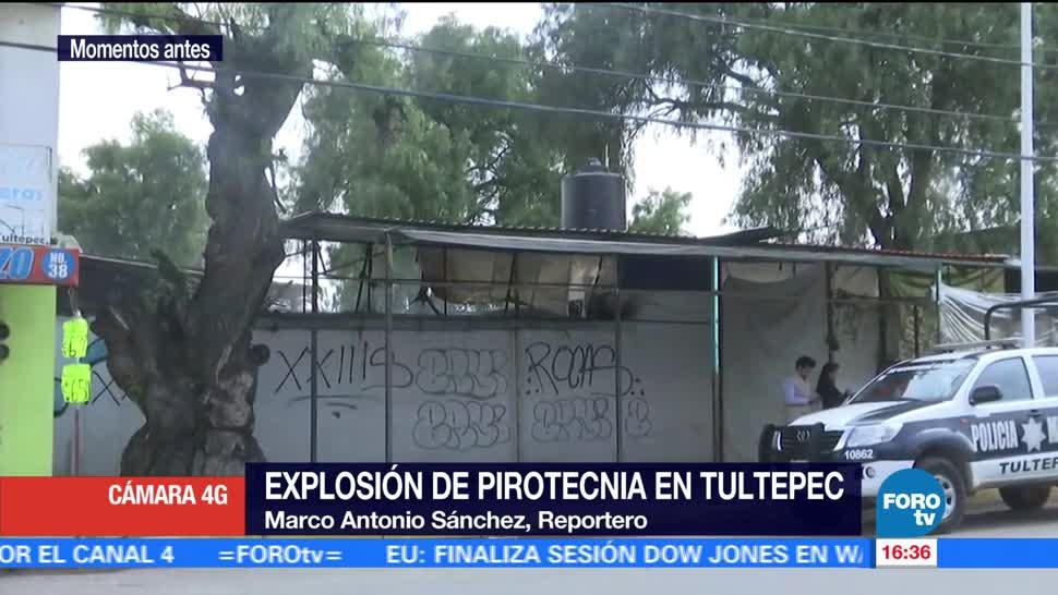 Bomberos, controlan, explosión, pirotecnia, Tultepec, Estado de México