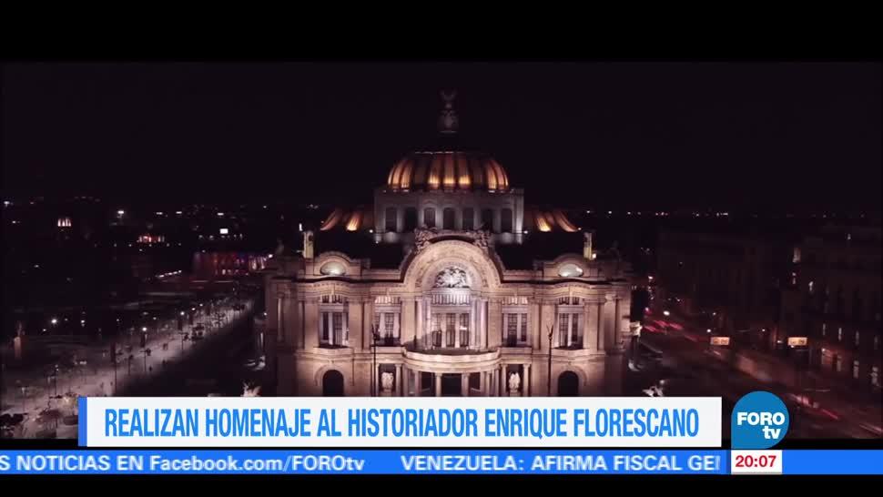 Enrique Florescano, recibe, homenaje, Bellas Artes, 80, aniversario