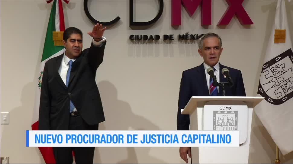 Mancera, toma protesta, nuevo procurador, Ciudad de México