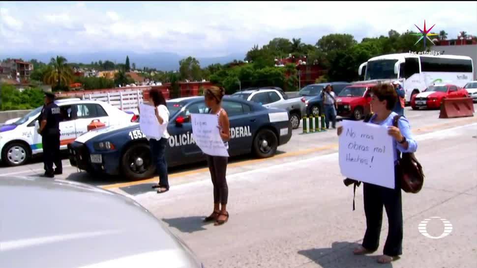 Vecinos, Paso Express, frenar obras en socavón
