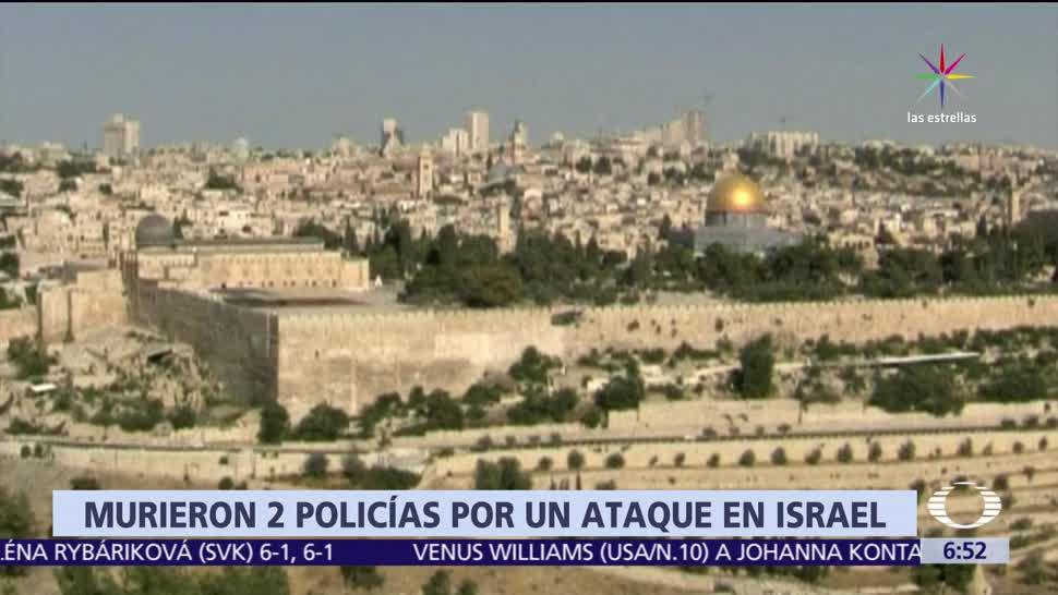 noticias, televisa, Hombres armados, atacan, policías israelíes, Jerusalén