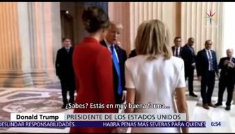 noticias, televisa, Trump, Brigitte Macron, muy buena forma, piernas suaves