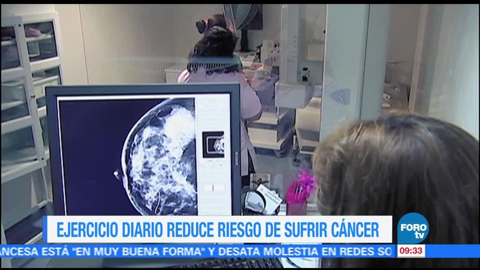noticias, televisa, Extra, Ejercicio diario, reduce riesgo, sufrir cáncer