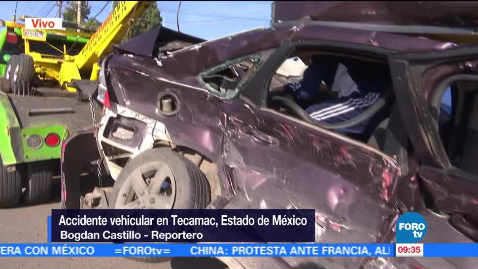 noticias, forotv, Accidente, vehicular, Tecamac, Estado de México