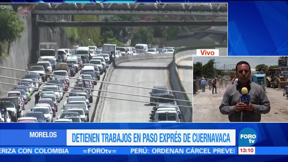 noticias, forotv, Georadar, analiza, carpeta asfáltica, Paso Express de Cuernavaca