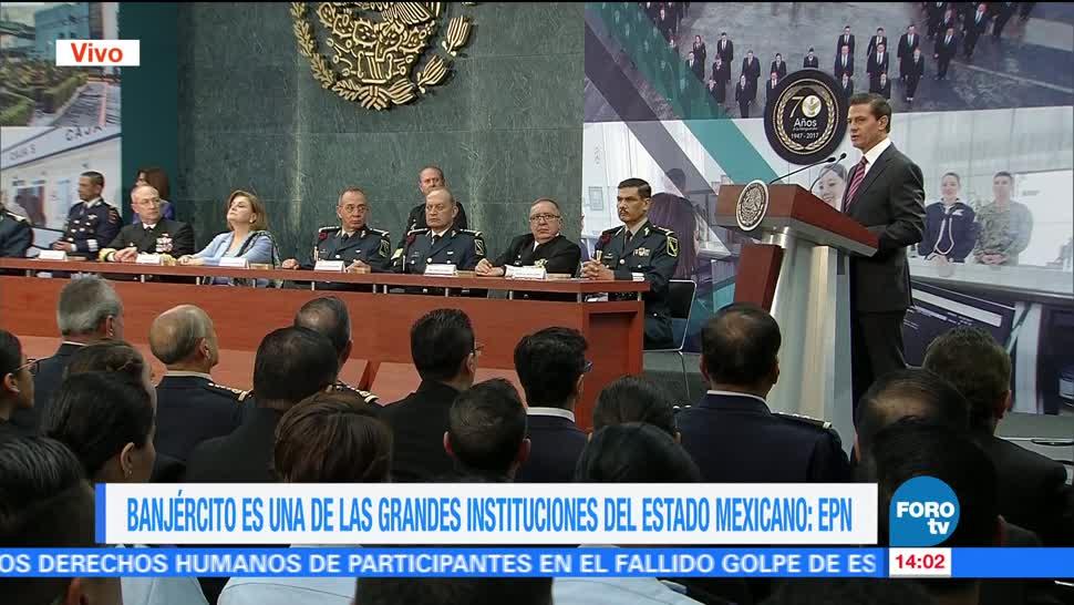 presidente, Enrique Peña Nieto EPN, conmemora, 70 aniversario del Banjercito