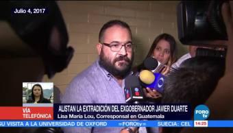 Alistan, extradición, exgobernador, Javier Duarte