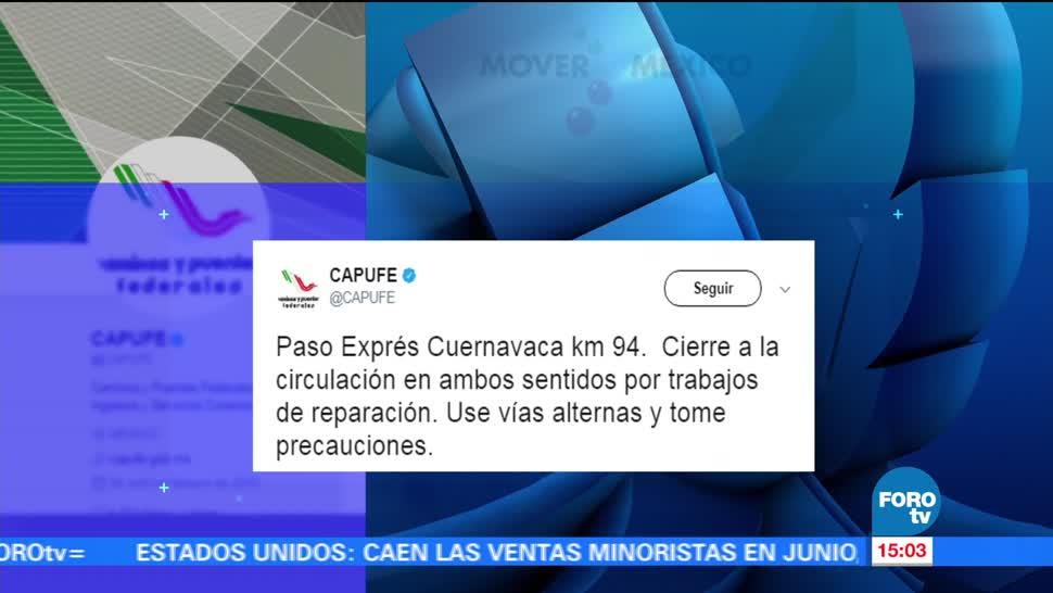 Caos vial, Cuernavaca, Paso Express, ciudad de Cuernavaca