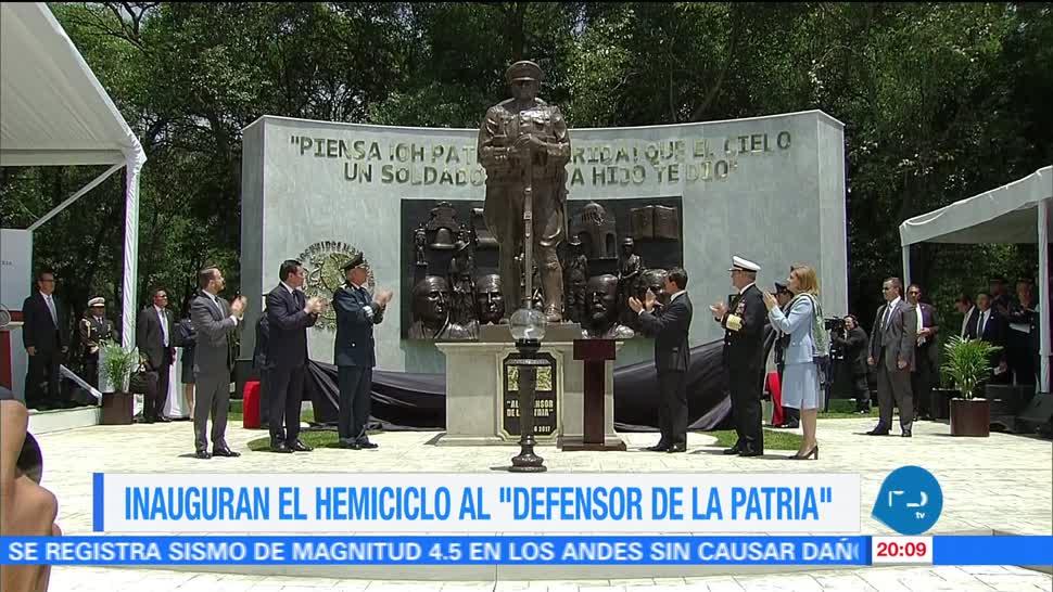 Inauguran, hemiciclo, Defensor de la Patria, CDMX, EPN, Salvador Cienfuegos