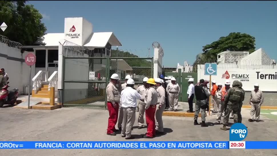 Realiza, Pemex, simulacro, contingencia, terminal, Campeche