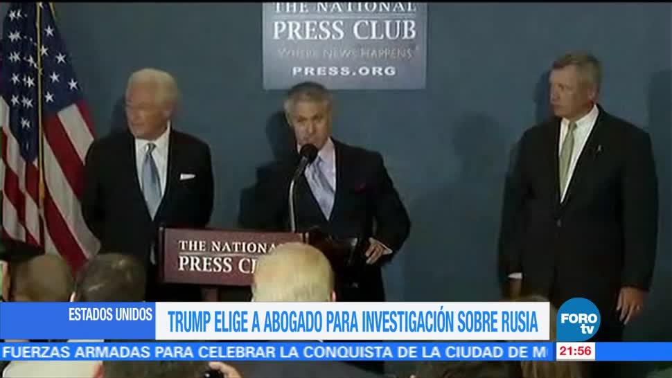 Trump, elige, abogado, investigación rusa, exfiscal, federal