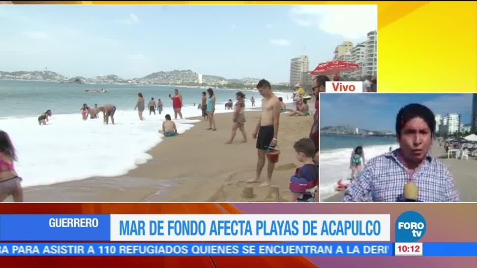 Turistas, clima, oleaje moderado, Acapulco, Guerrero, ocupación hotelera