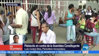 Periodista, venezolano, destaca, participación, plebiscito, Veenzuela