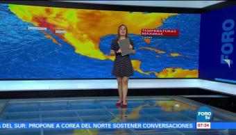 ondas tropicales, lluvias, Ciudad de México, grados centígrados