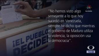Andrés Pastrana, expresidente de Colombia, Nicolás Maduro, violencia