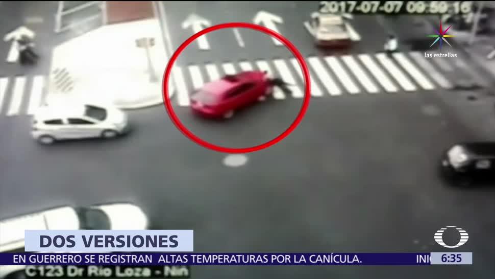 joven detenido, atropellar a un policía, Balderas, conducía el auto