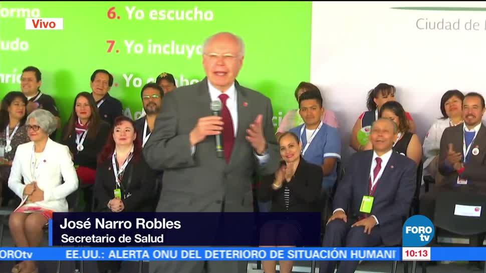 secretario de Salud, José Narro, aniversario del programa, 'Trato para un buen trato'
