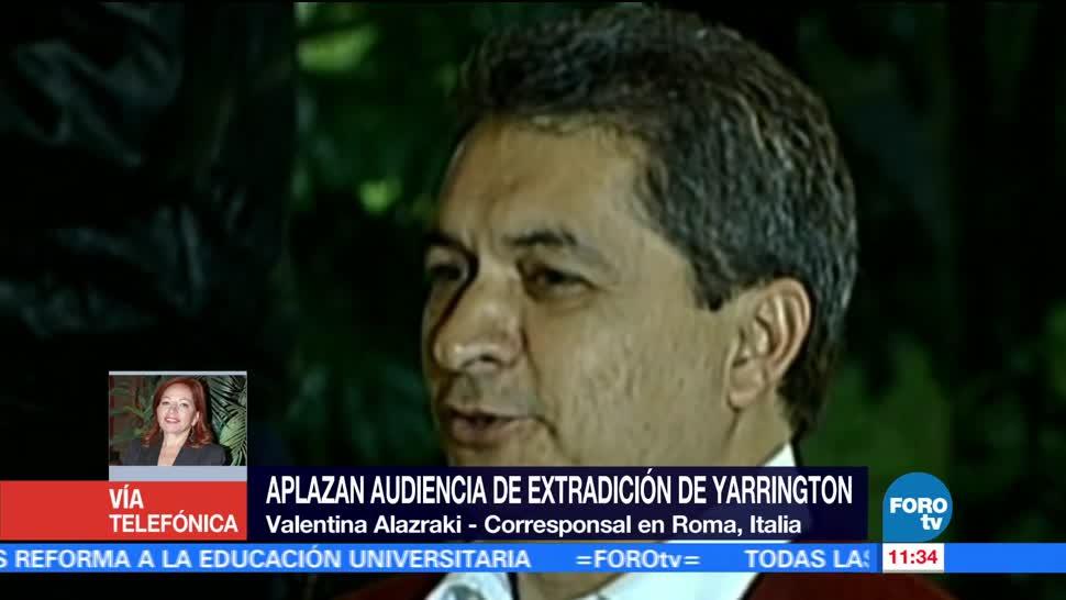 septiembre, audiencia de extradición, Tomás Yarrington, exgobernador de Tamaulipas, Italia