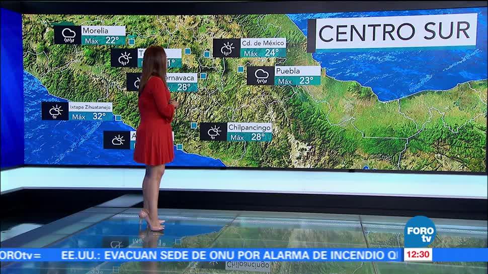 Ciudad de México, temperatura máxima, lluvia, tarde