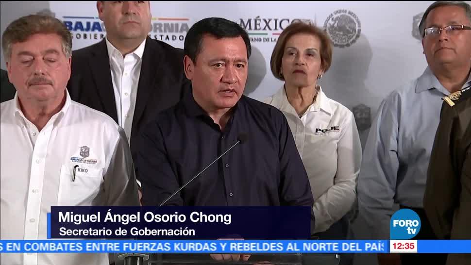 Tijuana, secretario de Gobernación, Miguel Ángel Osorio Chong, delincuencia