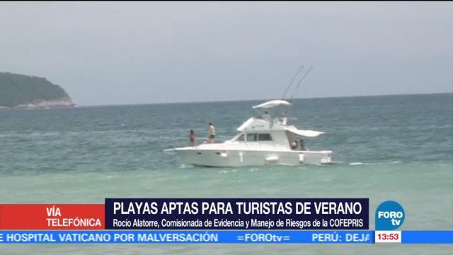 Cofepris, playas mexicanas, aptas, actividades recreativas