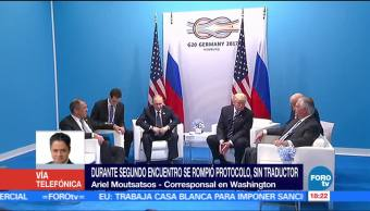 Ariel Moutsatsos, Corresponsal En Washington, Trump Mantuvo Segundo Encuentro, Putin