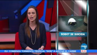 noticias, forotv, Robot suicida, robot, robot de seguridad, Knightscope k5