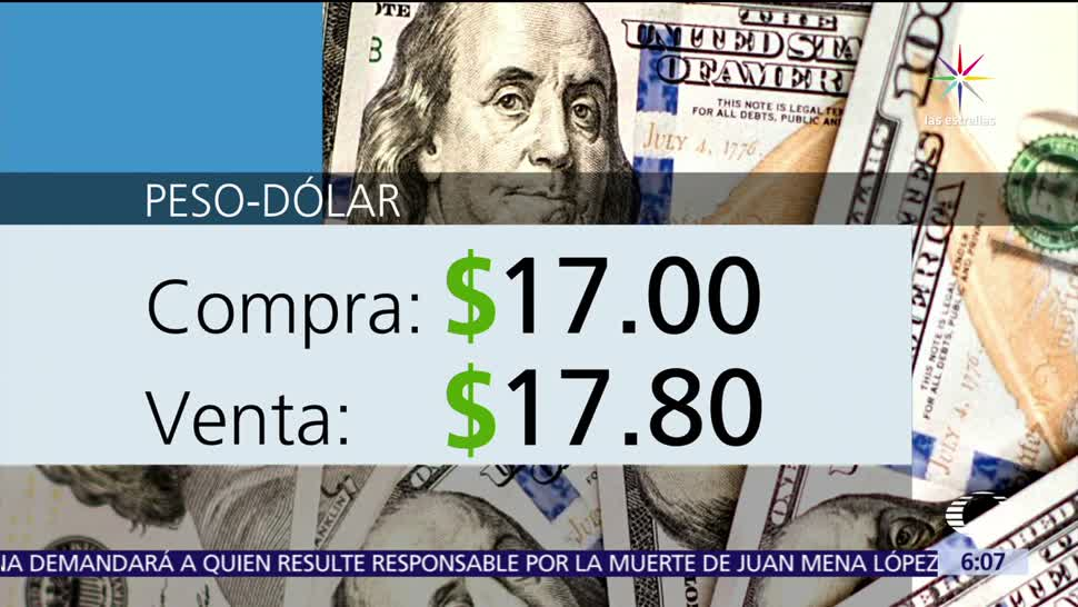 dólar, ventanillas bancarias, Ciudad de México, 17.00