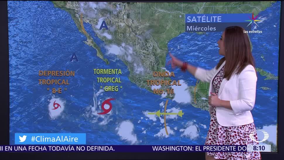 canal de baja presión, territorio, onda tropical, tormentas