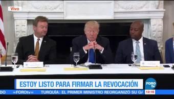 presidente de Estados Unidos, Donald Trump, senadores republicanos, Obamacare