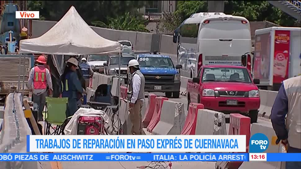 noticias, forotv, Trabajos, reparación, Paso Express, Cuernavaca