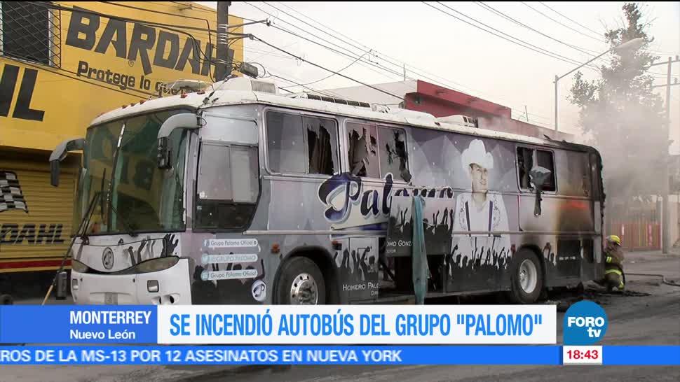 noticias, forotv, incendia, autobús, grupo Palomo, palomo