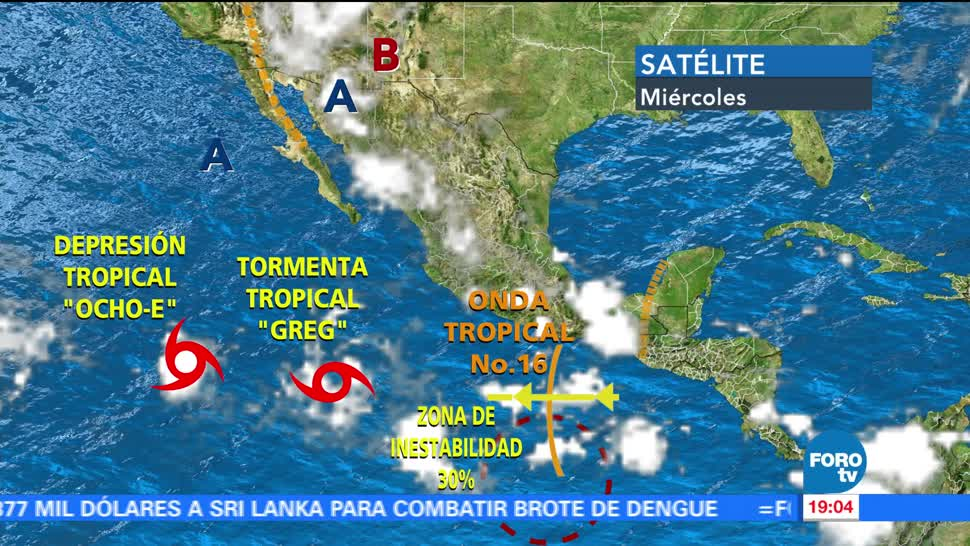 Cinco, sistemas tropicales, activos, Pacífico mexicano, Conagua, advirtió efectos