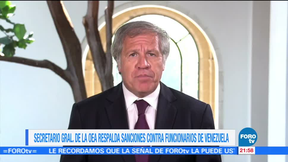 Almagro, apoya, más sanciones, EU Venezuela, Asamblea Constituyente, Nicolas Maduro